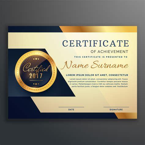 premium luxury certificate  achievement vector design