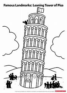 Color in the Leaning Tower of Pisa | Worksheets ...