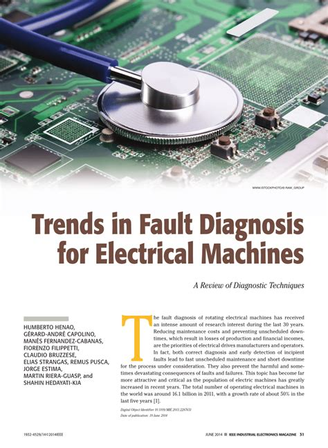 Pdf Trends Fault Diagnosis For Electrical Machines