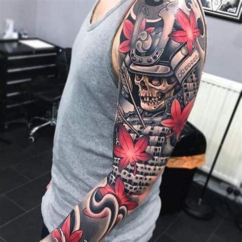 tatouage homme samourai japonais sur bras tatouage homme