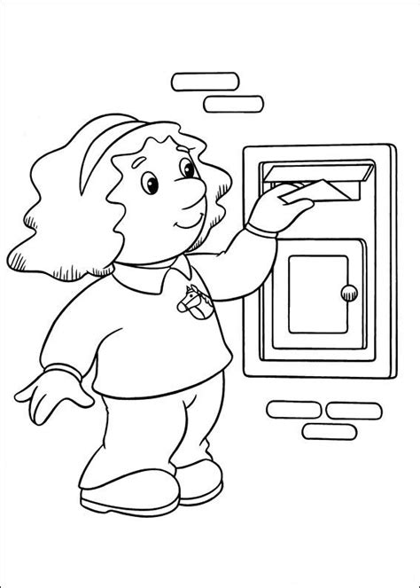 De Postbode Kleurplaat by Postman Pat Coloring Pages8 Coloring