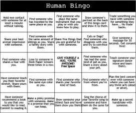 Print & Play: Human Bingo - Camp Grounded