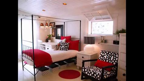 awesome red black  white bedroom design ideas youtube