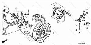 Honda Scooter 1990 Oem Parts Diagram For Rear Wheel