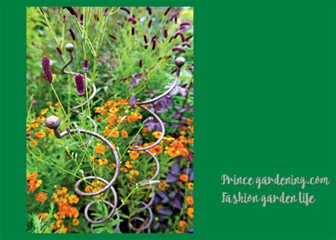 decorative mental garden plant stakes garden support
