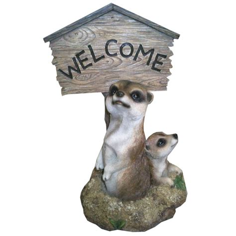 customer reviews  garden ornament meerkat  sign