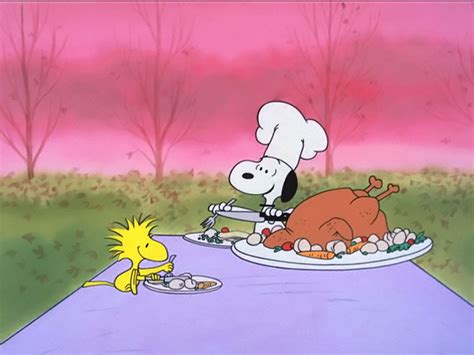 charlie brown thanksgiving table google images