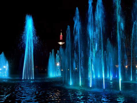 fountain computer wallpapers dancing water wallpaper