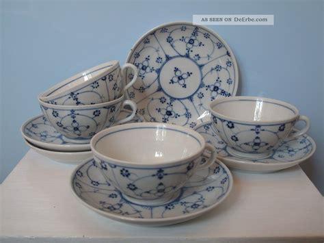 indisch blau porzellan sehr alte teetassen untertassen rauenstein indisch blau strohblume porzellan