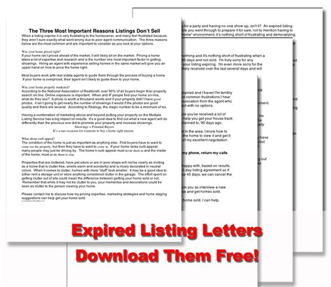 expired listing letter real estate marketing