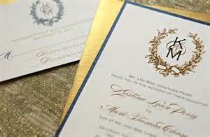 navy and gold wedding invitations gilded wedding invitations etsy weddings stationery gold navy ivory onewed