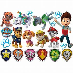 Huge Paw Patrol Wall Stickers Kids Decor Removable Decal