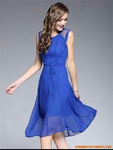 Robe femme bleu pas cher robe de mousseline soie robe for Robe mousseline pas cher