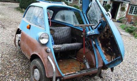 A Rusty And Unloved 55 Year-old Bubble Car Sells For