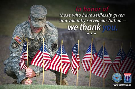 memorial day message  warrior care