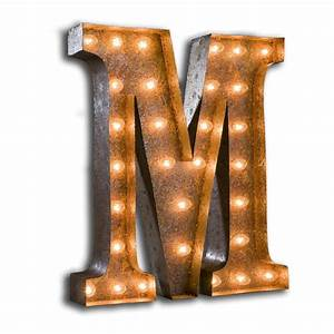 rusty 24 inch letter m marquee light by vintage marquee lights With marquee letter m