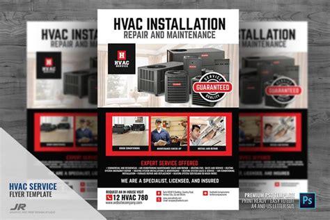 hvac services promotional flyer creative photoshop