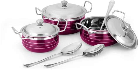 classic essentials cookware set stainless steel omgtricks