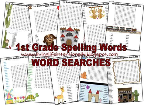Free 1st Grade Spelling Word Search Worksheets  Free Homeschool Deals