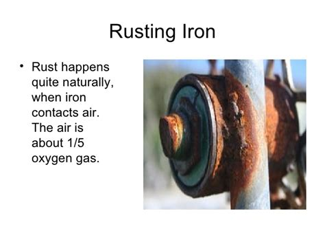 rust chemical iron rusting does physical