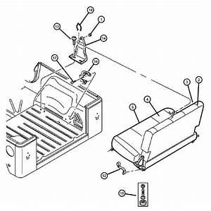 Jeep Tj Wrangler Rhs Rear Pivot Fold And Tumble Seat