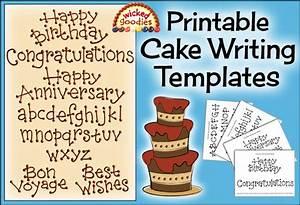 Cake Writing Font Templates