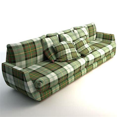 3d Model Scottish Plaid Sofa Cgtrader