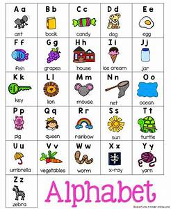 Alphabet charts writing folders and the alphabet on pinterest for Alphabet pictures for each letter