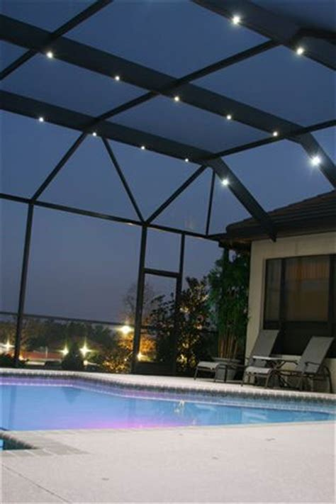 pool enclosure lighting for late entertaining nebula pool cage