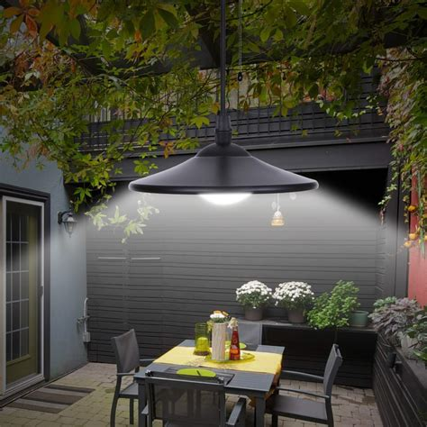 3w outdoor hanging solar powered 4 led shed light 250lm
