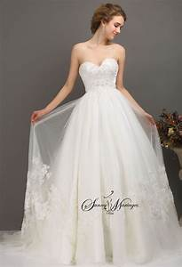 Robe Mariage Dentelle : robe de mariee princesse ou empire en tulle avec bustier ~ Mglfilm.com Idées de Décoration