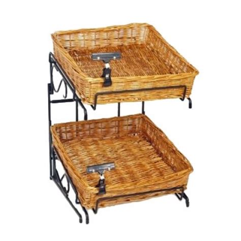 counter basket display double stacking produce baskets