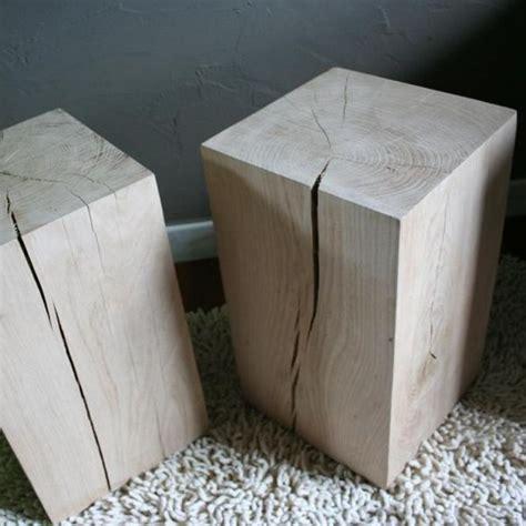 Cube En Bois Tabouret Cube Bois Brut Tabouret Bois Cube Bois