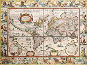 antique maps   worldthe americaspieter van den keerec