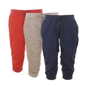 new ladies crop pants women s cropped capri trousers plus