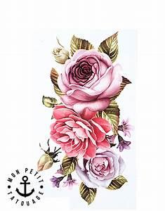 Tatouage De Rose : tatouage rose temporaire ph m re composition florale ~ Melissatoandfro.com Idées de Décoration