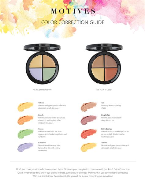 color correcting guide color correction made easy a makeup guide by motives