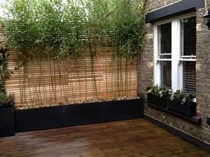 Bambou en pot brise vue naturel et deco sur la terrasse for Carreaux terrasse