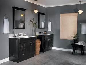 Simple elegant dark gray master bathroom wall colors ideas