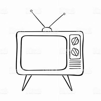 Tv Vector Illustration Drawing Television Screen Flat