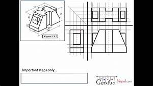 Engineering Drawing Tutorials  Orthographic Drawing 1 With Front View And Slide View  T 5  7