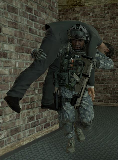 Image  Sgt Foley Carrying Raptorpng  The Call Of Duty
