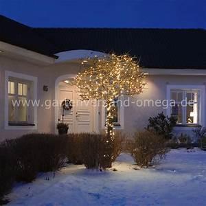 Lichterkette Außen Weihnachten : bernsteinfarbene micro led lichterkette f r au en lichterkette mit warmer lichtfarbe ~ Frokenaadalensverden.com Haus und Dekorationen