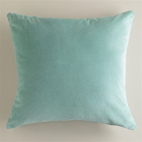 blue and throw pillows blue surf velvet throw pillows world market