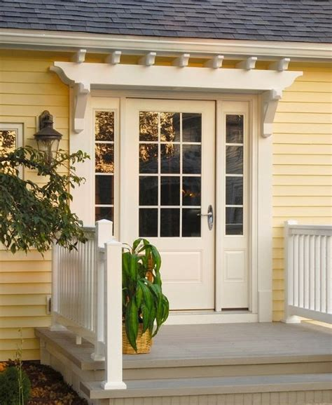 Fypon Pvc Trellis System Over Entry Door  This Looks