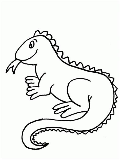 Coloring Iguana by Free Printable Iguana Coloring Pages For