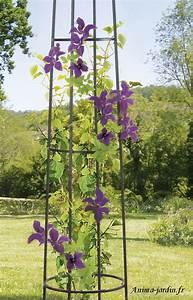 Support Pour Rosier Grimpant : colonne m tal support plantes ob lisk d coration jardin ~ Premium-room.com Idées de Décoration