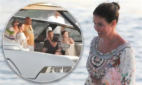 Rebekah Vardy looks radiant as she steps off a yacht with ...