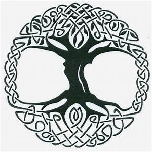Black Celtic Tree Of Life Tattoo Stencil By Captain Bret ...