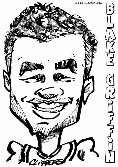 Nba Coloring Griffin Players Blake Blakegriffin